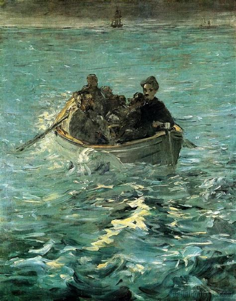 painting escape 201 douard manet the escape from rochefort 1880 and