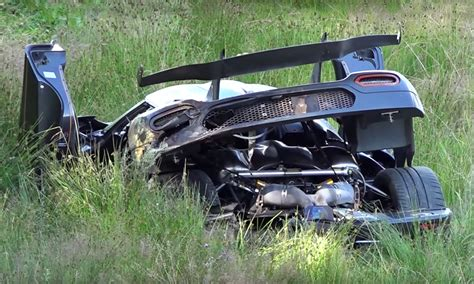 koenigsegg one 1 crash koenigsegg one 1 destroyed in ring crash car magazine