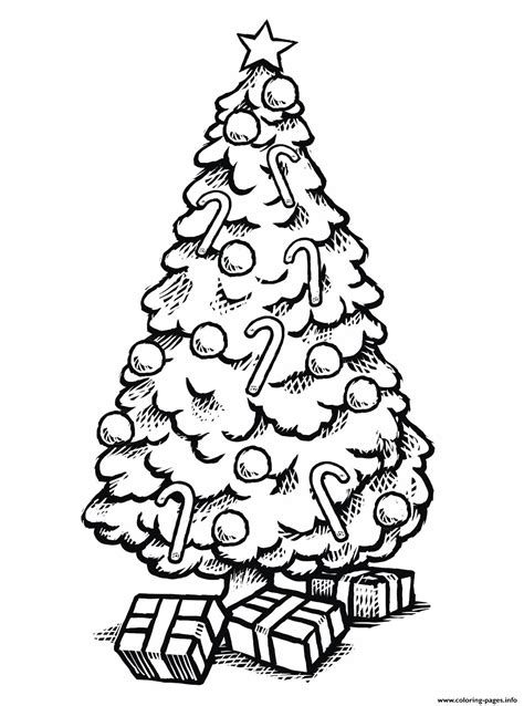 beautiful christmas tree  gifts coloring pages printable