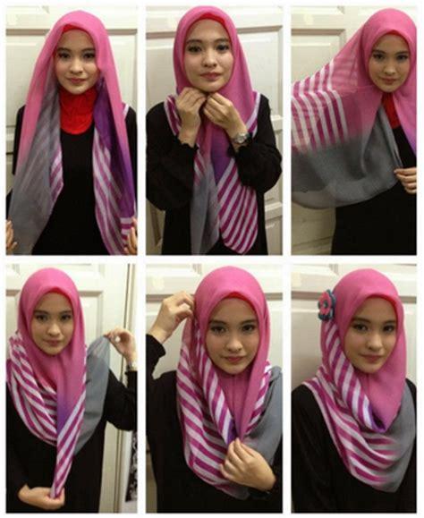 gambar tutorial berhijab remaja cara memakai hijab modern untuk remaja