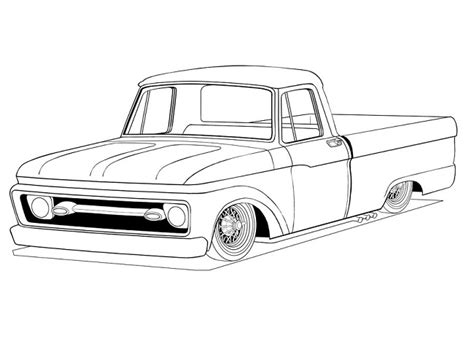 ford trucks coloring page old ford truck coloring pages coloring pages pinterest