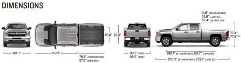 dimensions of chevy silverado truck bed auto parts diagrams
