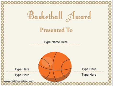 free basketball card template 10 best images of blank award certificate templates for