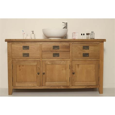 Valencia Bathroom Furniture Valencia Rustic Oak Large Bathroom Vanity Unit Click Oak