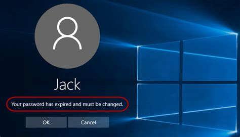 windows reset expired password resolve your password has expired and must be changed on