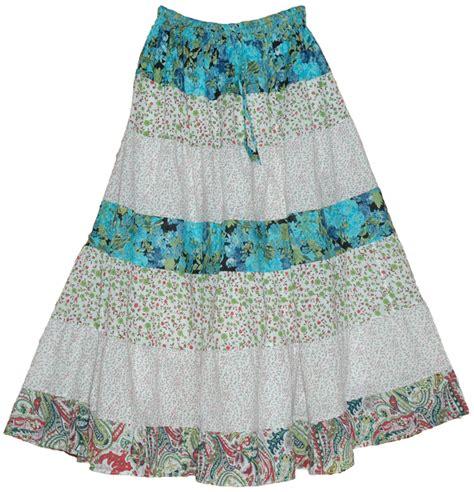 Flower Printed Puffball Skirt For A Summer Garden by Serene Flowers Summer Cotton Skirt Clothing