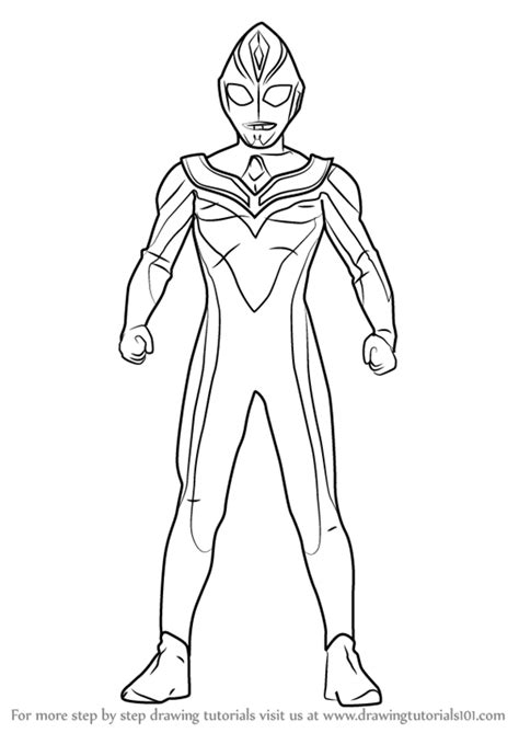 Learn How to Draw Ultraman Dyna (Ultraman) Step by Step