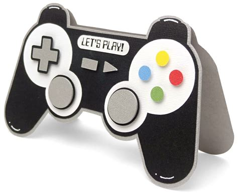 printable birthday cards video games game controller shaped card pazzles craft room