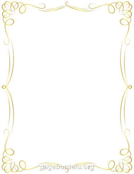 Wedding Border Gold by Printable Golden Border Use The Border In Microsoft Word