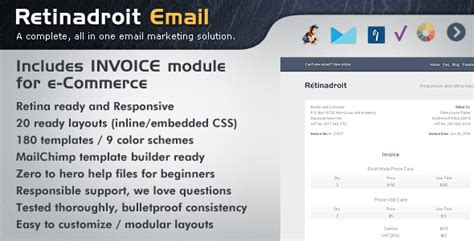 mailchimp receipt template email invoice template html 28 images responsive email