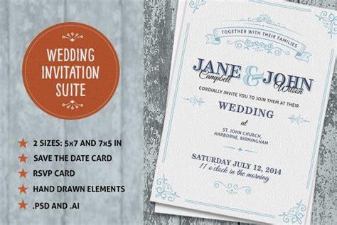 Wedding Fonts Adobe Photoshop by 90 Gorgeous Wedding Invitation Templates Design Shack