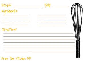 recipe blank template free blank recipe card template