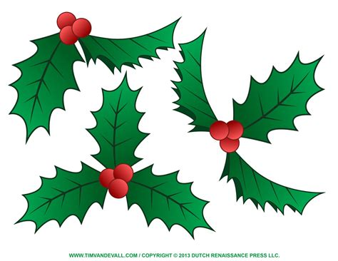 printable christmas holly christmas holly clip art tim van de vall