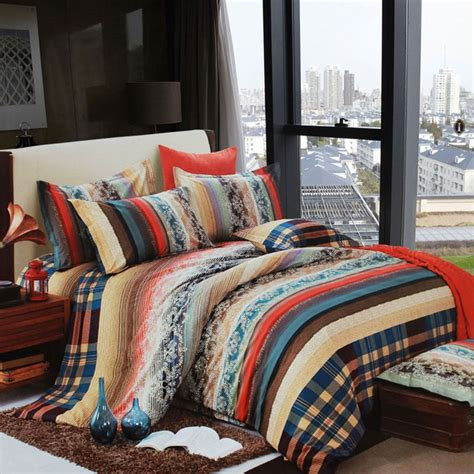 coral and brown bedding blue brown beige and coral vintage boho style exotic