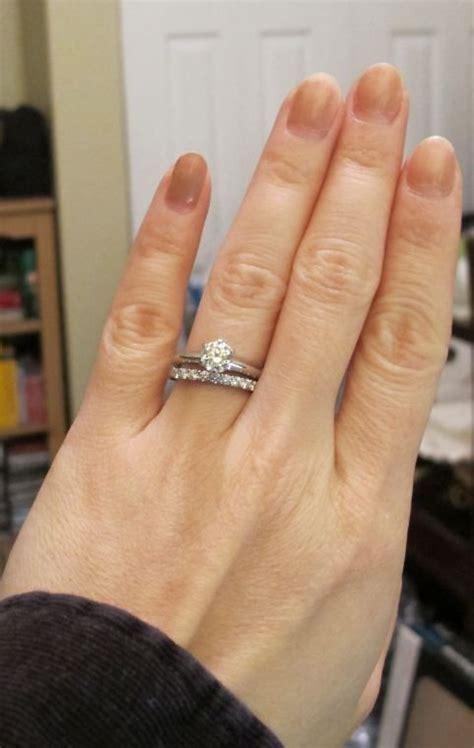 Tiffany setting, .78 ct on size 5 finger   Engagement