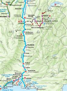 carte du tourisme fluvial sur le rh 244 ne on the rhone