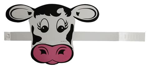 printable mask cow cow paperparty hat cfa cow appreciation day pinterest