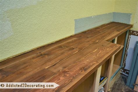 Building Wood Countertop by Diy Wood Countertop Is Finished Well Almost
