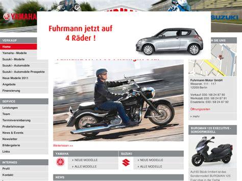 Yamaha Motorrad Händler In Nrw by Fuhrmann Handel Mit Motorr 228 Dern Service Gmbh In Berlin