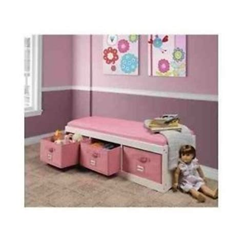 kids storage bench with cushion white pink kids storage bench cushion toys box furniture