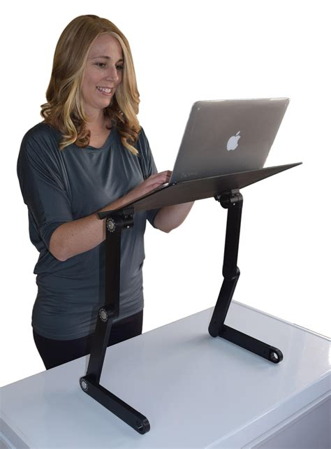 standing computer desk amazon workez professional ergonomic aluminum laptop