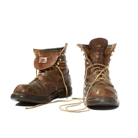 vintage mens boots vintage wing boots steel toe s lace up ankle boots