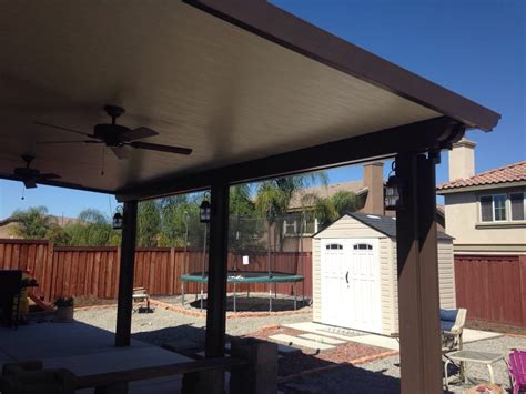 Aluminum Patio Cover With Lights And Ceiling Fan Yelp Light Patio Covers
