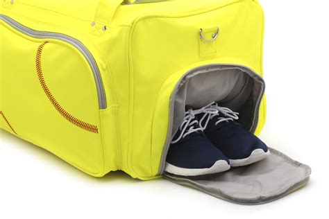 sports bag with separate shoe compartment sport size duffel bag actual softball leather