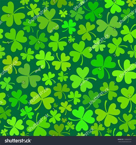 yeezy pattern vector dark green seamless clover pattern vector stock vector