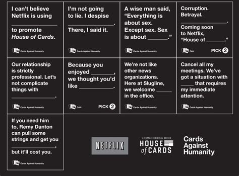 what time will house of cards be available tv card game spoofs quot house of cards against humanity quot