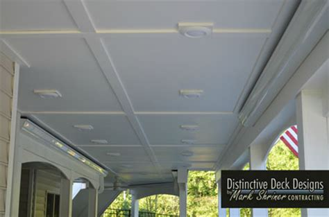 Patio Ceiling Panels by Deck Ceiling Drainage Solutions For Virginia