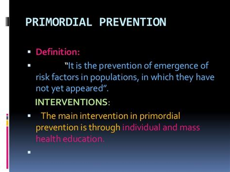 primordial define primordial at dictionary prevention ppt