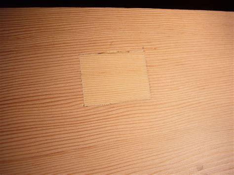 woodworking repair dutchman wood repair make