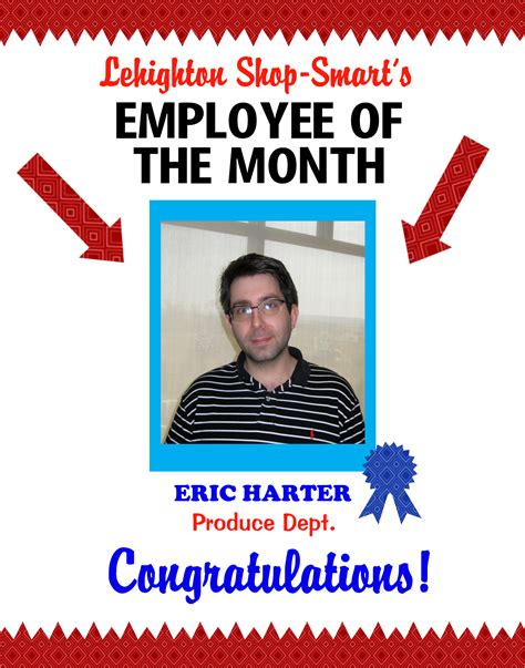 create a poster about employee of the month staff