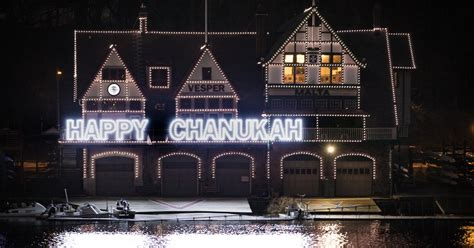 boathouse row band philly lights up boathouse row for 6th night of hanukkah