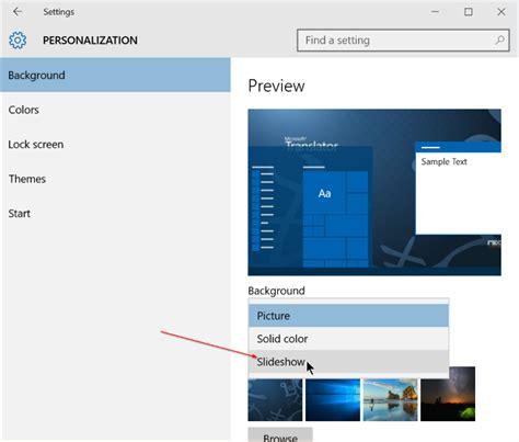 wallpaper windows 10 slideshow how to enable desktop background slideshow in windows 10
