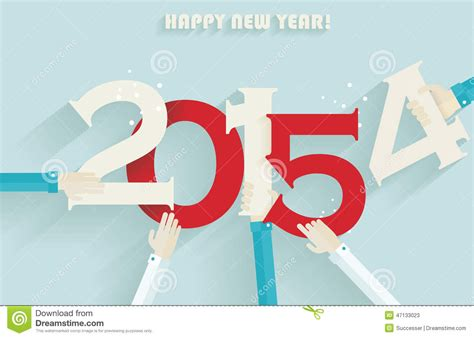 new year card 2015 vector happy new year 2015 creative greeting card stock vector