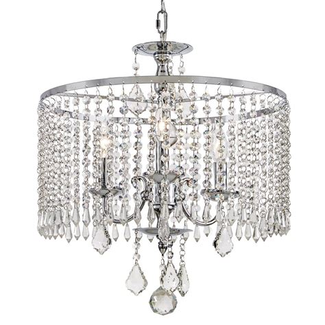 Home Chandelier Lighting Fifth And Lighting 3 Light Polished Chrome Chandelier