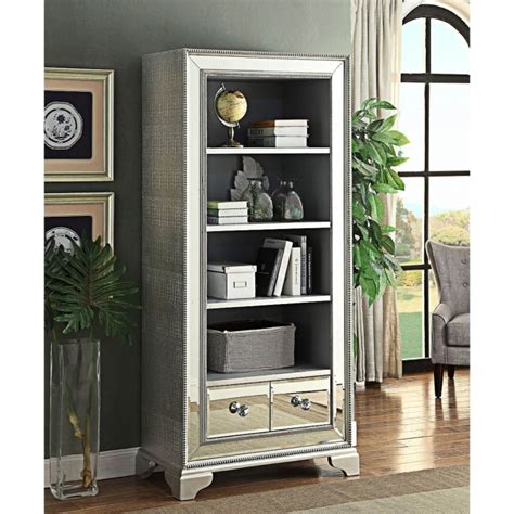 sofia mirrored bookcase bookcase homesdirect365