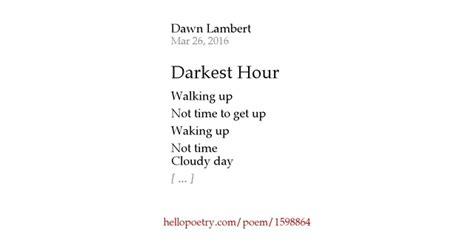 darkest hour okc darkest hour by dawn lambert hello poetry
