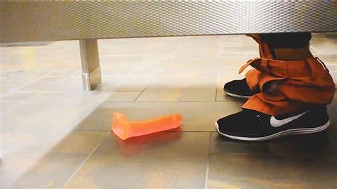 dildo in bathtub dropping dildos in public bathroom pranks in public