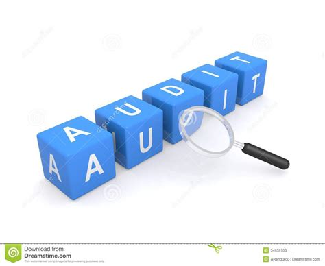 audi financial sign in audit sign with magnifying glass stock image image 34939703