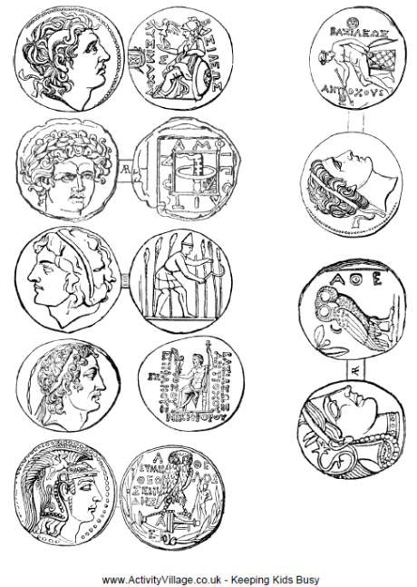 new year coin template ancient coins printable