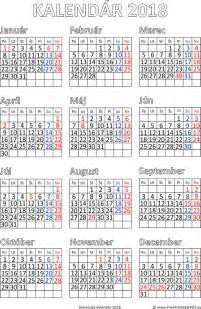 Kalendar 2018 Pdf Kalend 225 R 2018 Tlač Pdf Pdf Pre Tlač Zdarma