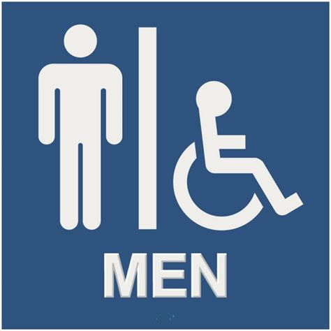 handicap bathroom sign ada symbols clipart best