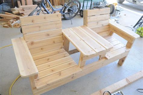 Patio Set Plans by How To Build A Chair Bench With Table Free Plans