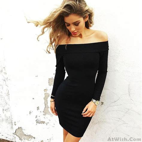 boat neck pics boat neck skin tight dress pencil skirt long sleeved sexy