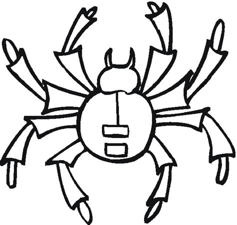 funny spider coloring page pin spider funny bugs coloring pages on pinterest