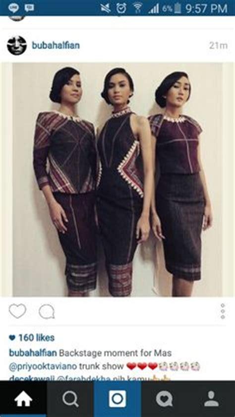 Blouse Dress Maxi Dress Tenun Fashion Wanita dress ulos batak bahan ulos kombinasi tenun bima ukuran s m warna hitam merah ungu