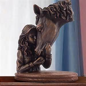 horse statues for home decor girl and horse home decor 2015 39 99